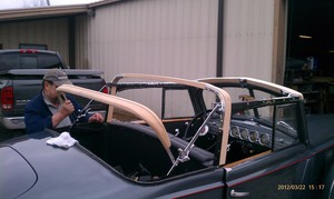 convertible top bow